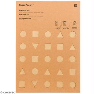 Papier Kraft A4 - 3 couleurs - 2 épaisseurs - 30 pcs