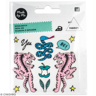 Stickers Flex thermocollant Made by me Rico Design - Tigre et serpent - 12 pcs