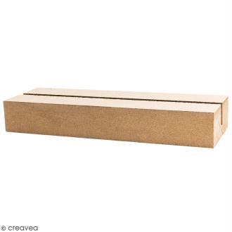 Bloc support en bois à décorer - 16,5 x 5,5 cm