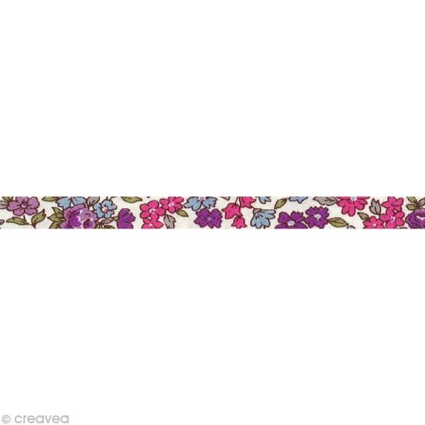 Biais replié Frou-frou 10 mm n°11 au mètre (sur mesure) - Photo n°1