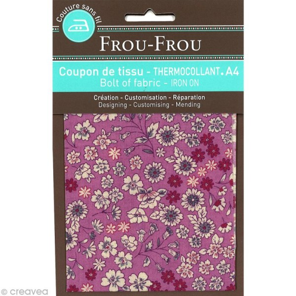 Tissu thermocollant Frou-frou n°01 A4 - Photo n°1