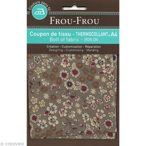 Tissu thermocollant Frou-frou n°02 A4 - Photo n°1