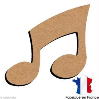 Note de musique double en bois 10 cm