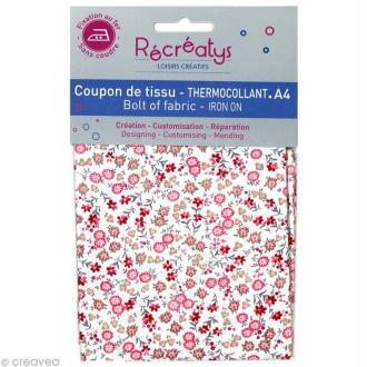 Tissu Thermocollant - Fleuri N°1 - A4