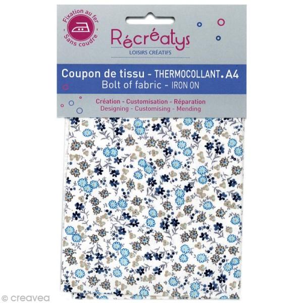 Tissu Thermocollant - Fleuri N°2 - A4 - Photo n°1