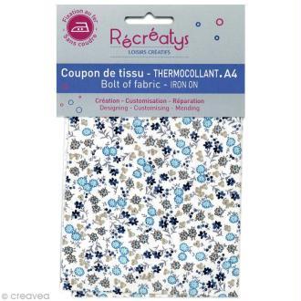 Tissu Thermocollant - Fleuri N°2 - A4