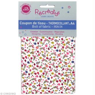 Tissu Thermocollant - Fleuri N°8 - A4
