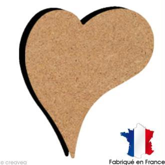 Coeur déco en bois 10 cm