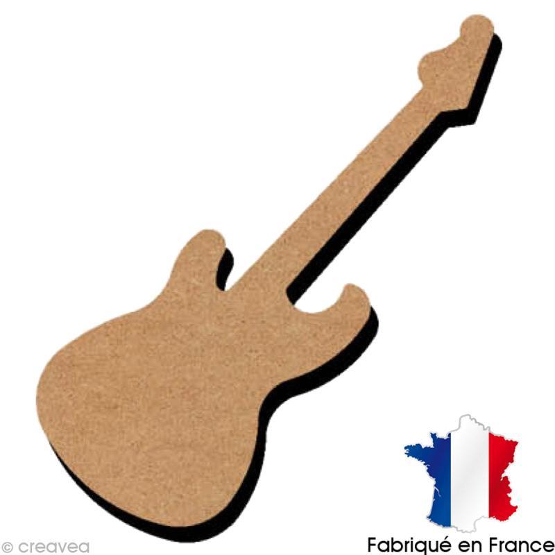 Häufig Guitare en bois 10 cm - Support déco divers - Creavea RD16