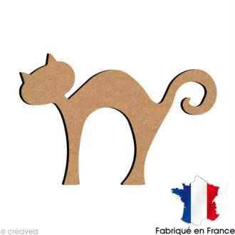 Chat debout en bois 15 cm