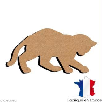 Chat joueur en bois 15 cm