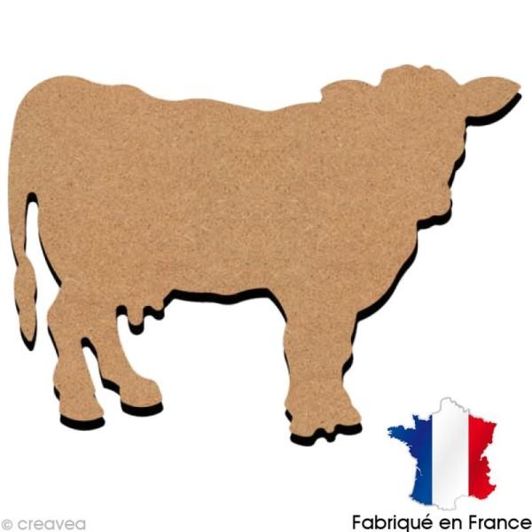 Vache en bois 15 cm - Photo n°1
