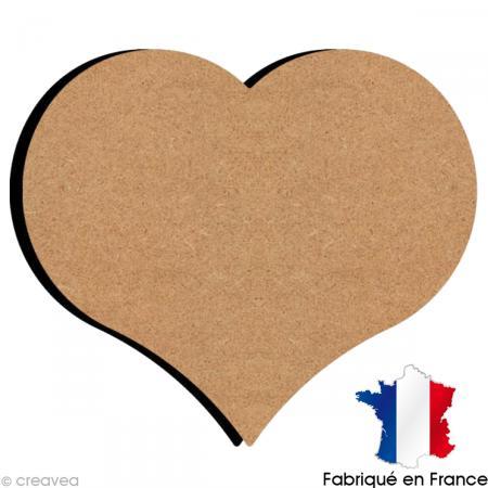 Coeur en bois 26 cm support d co amour creavea - Decoration coeur en bois ...