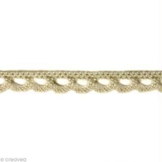 Dentelle coton fantaisie 0,7 cm - Blanc cassé au mètre (sur mesure)