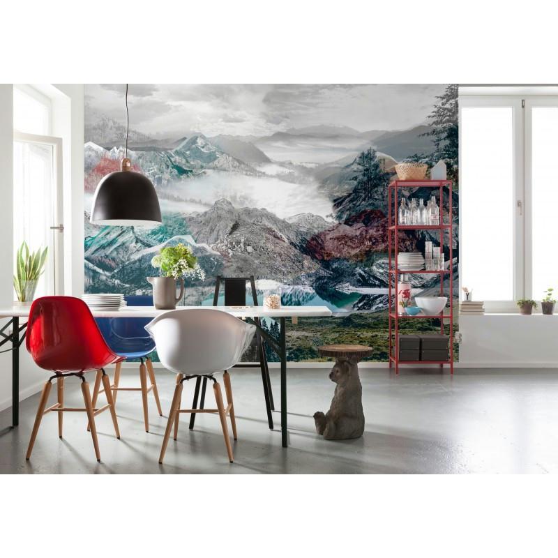 Papier peint up and down 248 x 368 cm papier imitation - Papier peint cuisine moderne ...