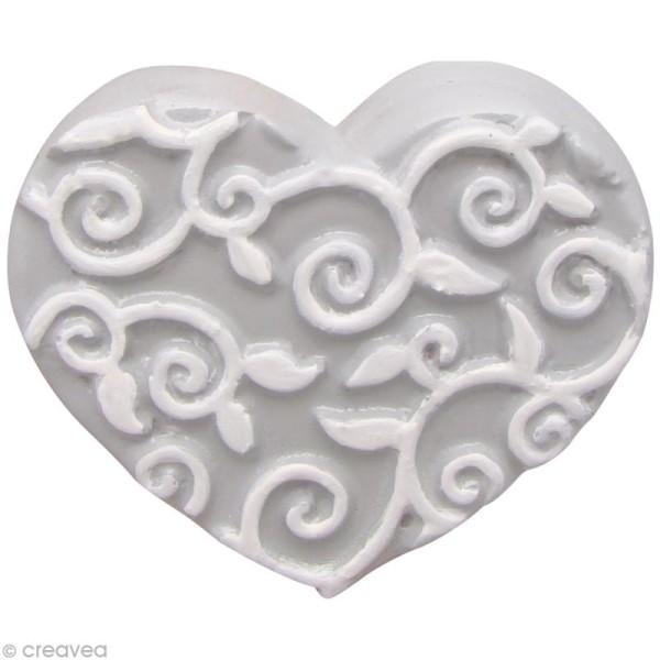 Moule thermoformé Coeur arabesque 4,5 cm - Photo n°2