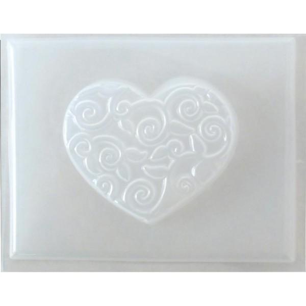 Moule thermoformé Coeur arabesque 4,5 cm - Photo n°1