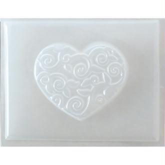 Moule thermoformé Coeur arabesque 4,5 cm