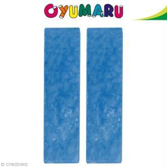 Pâte Oyumaru Bleu foncé x 2 bâtonnets