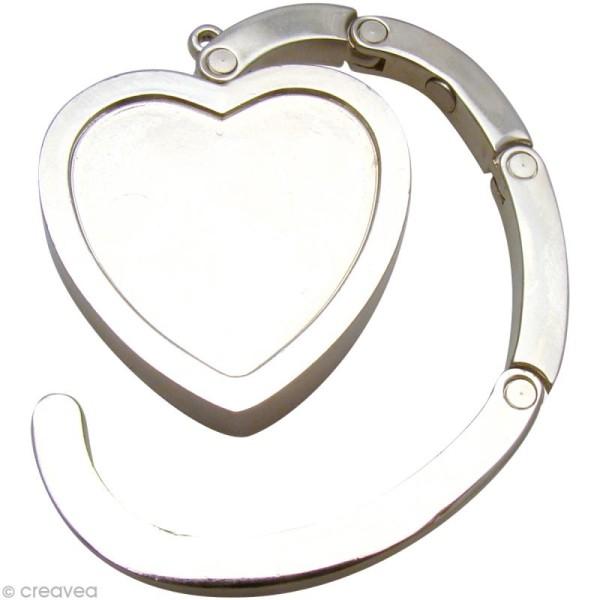 Support accroche sac Coeur à décorer 4,5 cm - Photo n°1