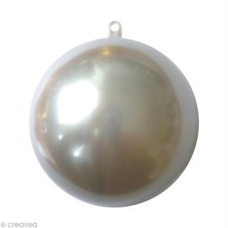 Boule plastique cristal 5 cm Argent