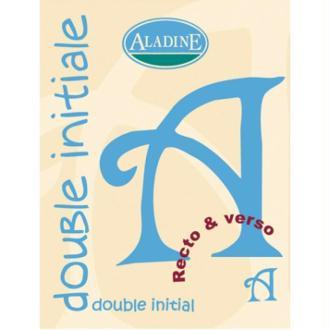 Cachet double initiale A 2 cm