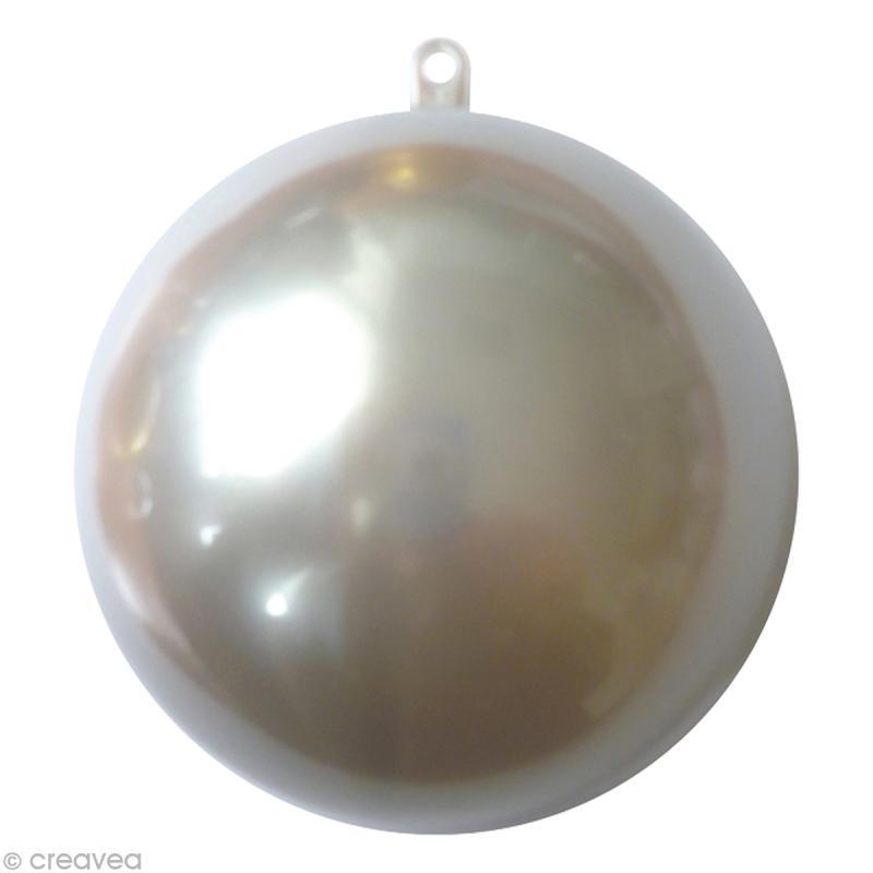 Boule plastique cristal 8 cm Argent - Photo n°1