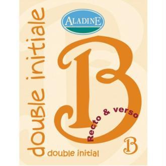 Cachet double initiale B 2 cm