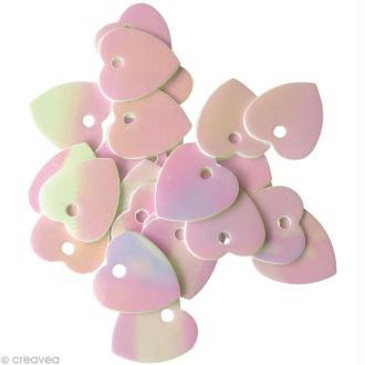 Confettis de table Coeurs nacrés 10 mm