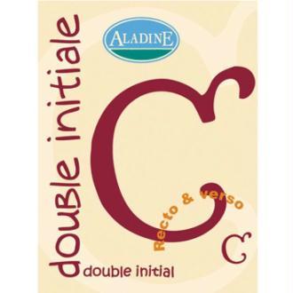 Cachet double initiale C 2 cm