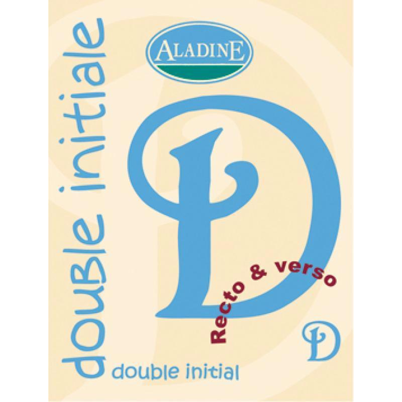 Cachet double initiale D 2 cm - Photo n°1