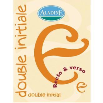 Cachet double initiale E 2 cm