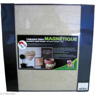 Tableau magnétique tissu Carré 40 x 40 cm