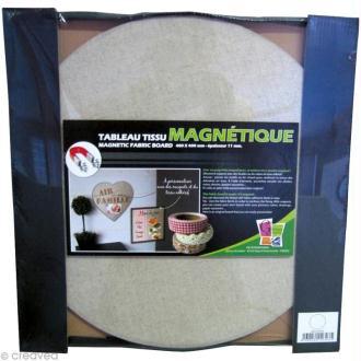 Tableau magnétique tissu Rond 40 x 40 cm