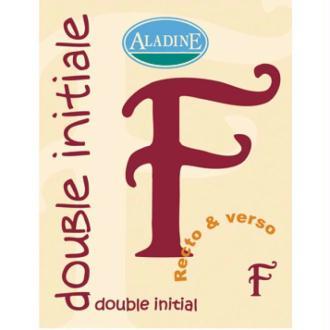 Cachet double initiale F 2 cm