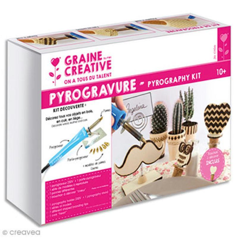 kit pyrograveur bois pyrograveur d butant creavea. Black Bedroom Furniture Sets. Home Design Ideas