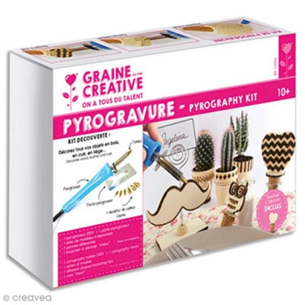 Kit Pyrograveur Bois Graine Créative 10 Pcs
