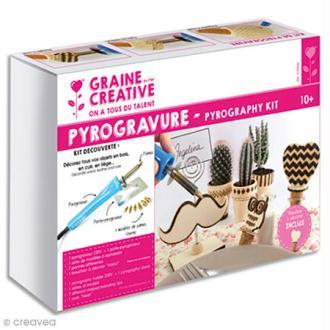 Kit pyrograveur bois Graine Créative - 10 pcs