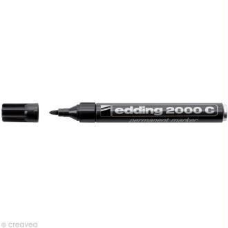 Marqueur permanent noir Edding 2000C 1,5-3 mm