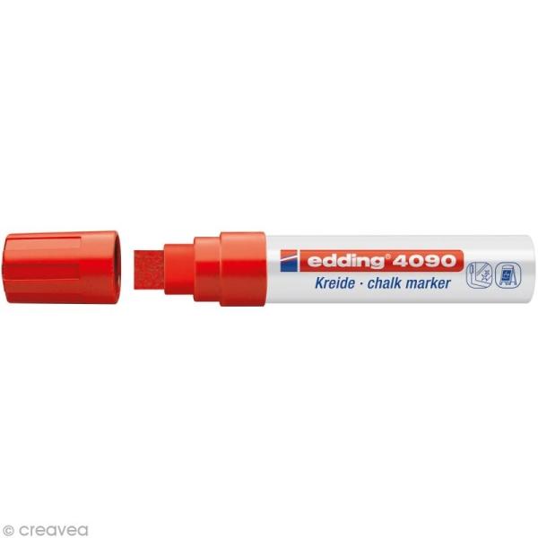 Marqueur craie Edding 4090 Rouge 4-15 mm - Photo n°1