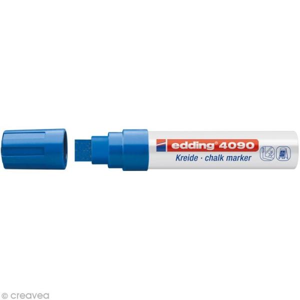 Marqueur craie Edding 4090 Bleu 4-15 mm - Photo n°1