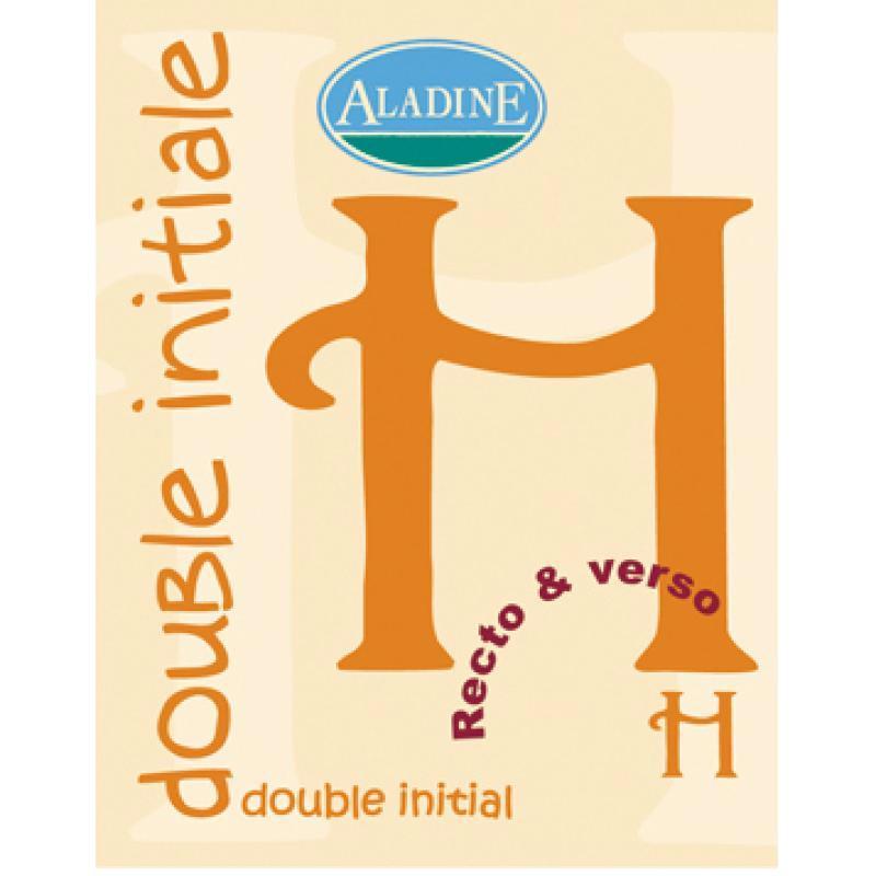 Cachet double initiale H 2 cm - Photo n°1