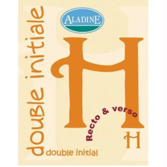 Cachet double initiale H 2 cm