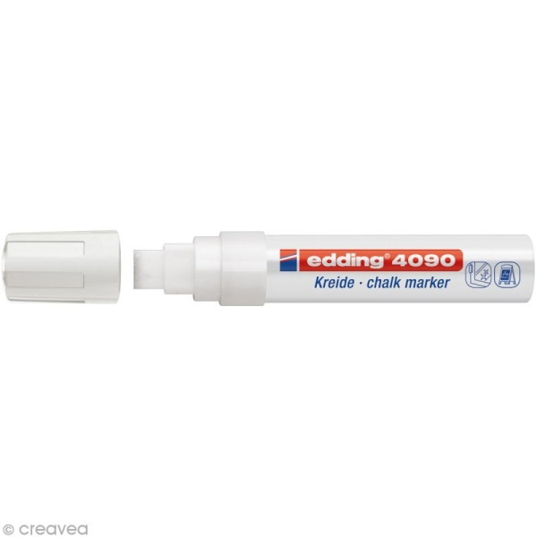 Marqueur craie Edding 4090 Blanc 4-15 mm - Photo n°1