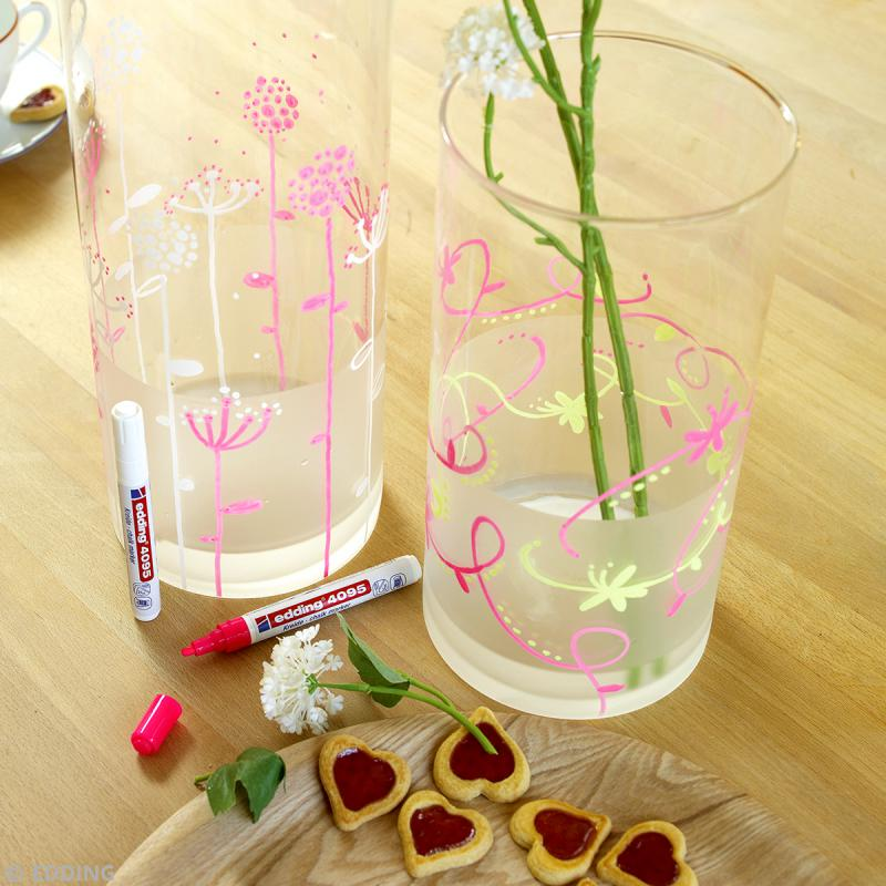 Marqueur craie Edding 4095 Rose fluo 2-3 mm - Photo n°2