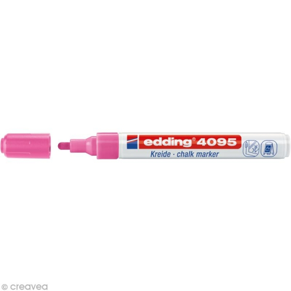 Marqueur craie Edding 4095 Rose fluo 2-3 mm - Photo n°1