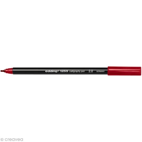 Feutre calligraphie Edding 1255 2.0 Rouge cramoisi - Photo n°1