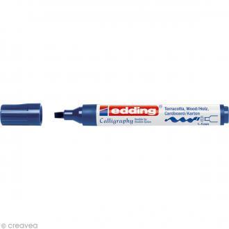 Marqueur calligraphie Edding 1455 Bleu acier 1-5 mm