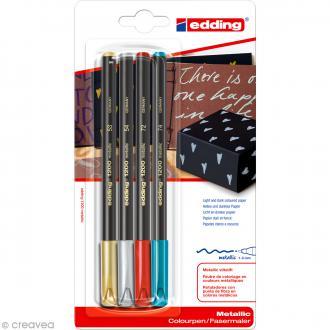 Feutre coloriage Edding 1200 Assortiment Noël x 4 1-3 mm