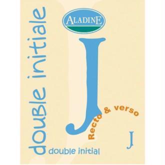 Cachet double initiale J 2 cm